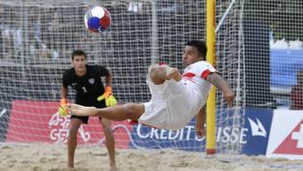 Aargauer Dejan Stankovic und die Schweizer Beachsoccer Nationalmannschaft wollen als Aussenseiter den Top-Favoriten Brasilien schlagen.