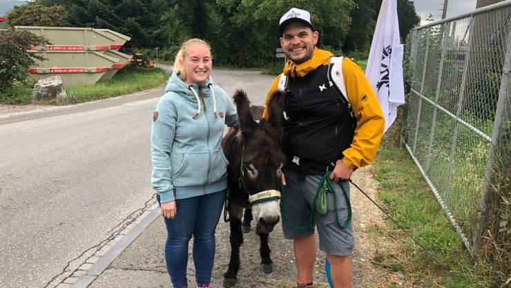 Hörerin Lea hat unsere zwei Esel über eine Stunde lang gesucht.