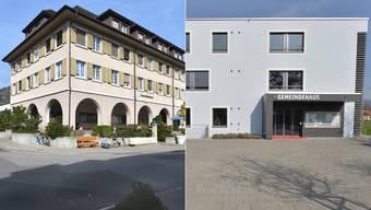Die beiden Standorte der Sozialregion Thal-Gäu: Im Gemeindehaus in Balsthal (links) sind die einen Büros untergebracht und im Gemeindehaus von Härkingen (rechts) ist der andere Teil der Büros eingerichtet worden.