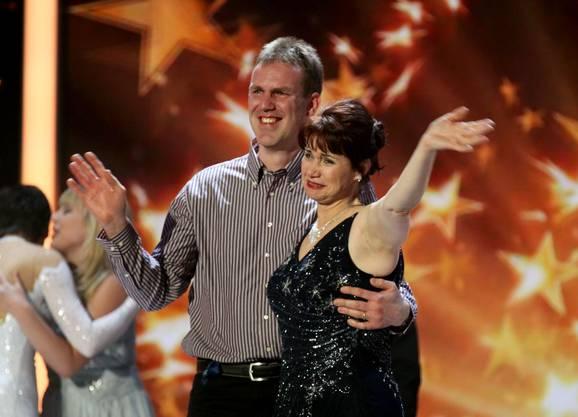 Gewinnerin Maya Wirz mit ihrem Lebenspartner Roger.