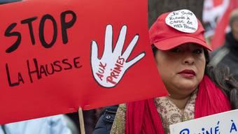 Stop zur Prämienerhöhung - Demonstration vom letzten November in Genf.