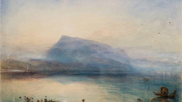 Joseph Mallord William Turner, «The Blue Rigi, Sunrise», 1842, Aquarell auf Papier, 29,7 x 45 cm, kommt nach Luzern.