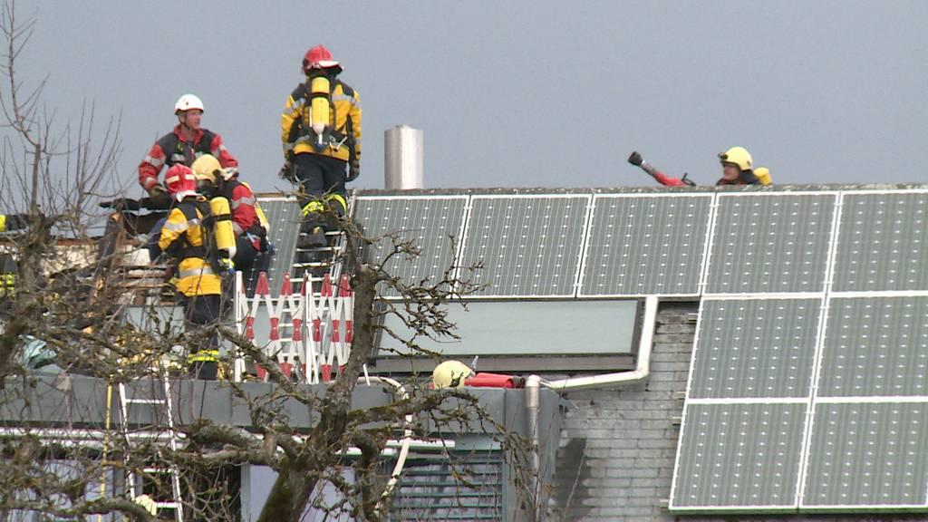 Dachstockbrand in Lohn (SH)