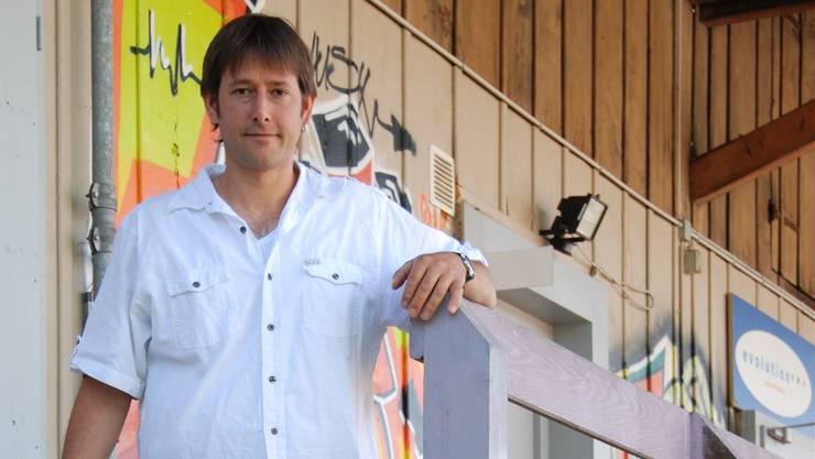 Jonathan Murbach, Jugendarbeiter Thal, beim Jugendraum Evolution in Balsthal.