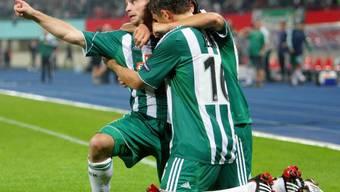 Rapid Wien schickte den HSV mit 3:0 nach Hause