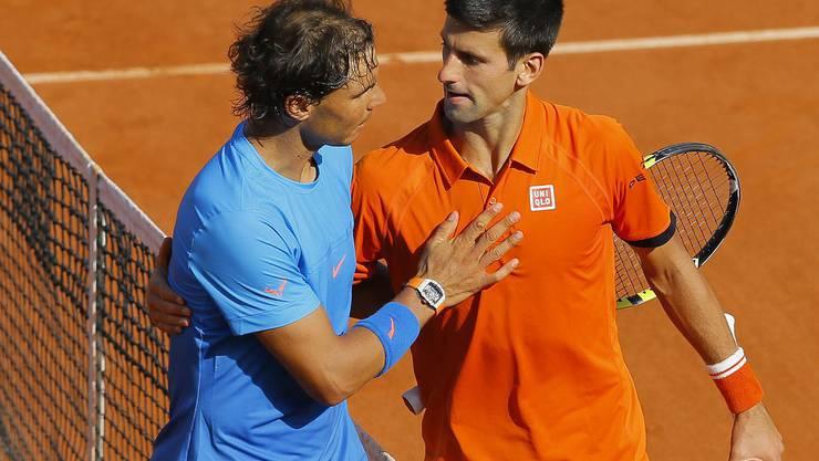Ein Duell auf Augenhöhe: Aktuell führt Nadal in allen direkten Begegnungen mit 23:22. Ob der «Djoker» schon heute Samstag ausgleichen kann?