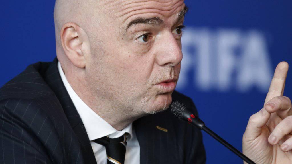 FIFA-Präsident Gianni Infantino kämpft um neue Fussball-Wettbewerbe