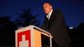 Parteipolitik aussen vor lassen – ein Versprechen, das Redner Yves Derendinger einhielt.  Hanspeter Bärtschi