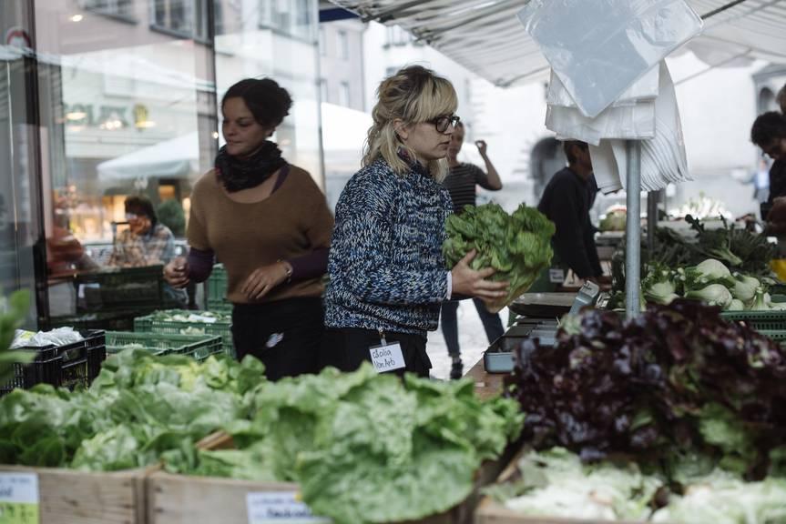 Der Wochenmarkt in Chur findet am Samstag zu ersten Mal in diesem Jahr statt. Bild: zVg