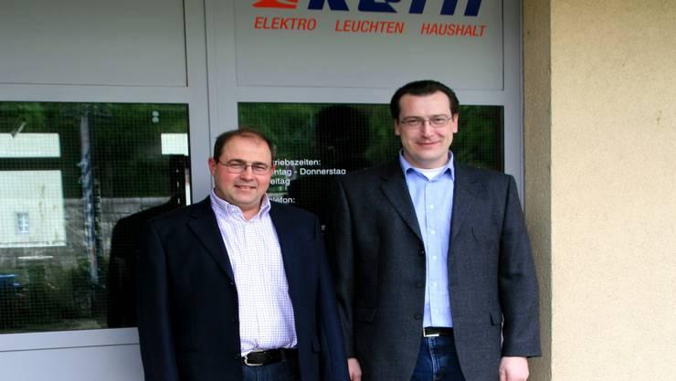 Cäsar Lauber (links) und Markus Obrist, die neuen Chefs. (Bild: pbe)