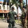 Grosse Sicherheitsvorkehrungen während der Messe in einer Kirche in Colombo nach den Anschlägen am Ostersonntag. (Archivbild)