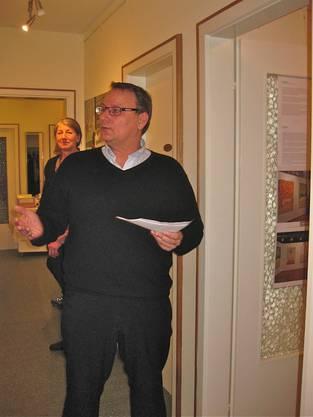 Gemeindeamman Werner Scherer eröffnet die Ausstellung