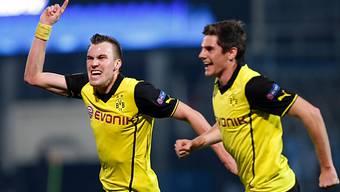 Dortmunds Matchwinner Kevin Grosskreutz (l.)