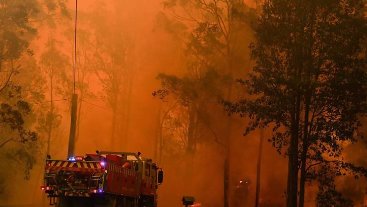 Die teilweise ausser Kontrolle geratenen Buschbrände haben Menschen im australischen Bundesstaat Queensland in die Flucht getrieben.  EPA/MICK TSIKAS AUSTRALIA AND NEW ZEALAND OUT