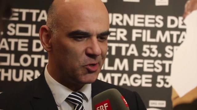Alain Berset an der Eröffnung der 53. Solothurner Filmtagen: «Die Solothurner Filmtage sind ein Ort, wo man unterschiedliche Filme schauen und den Film unterstützen kann.»