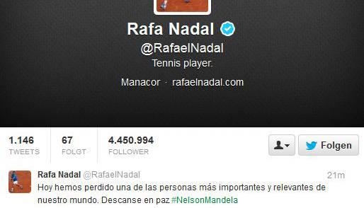 Rafael Nadal hat Nelson Mandela schon für tot erklärt
