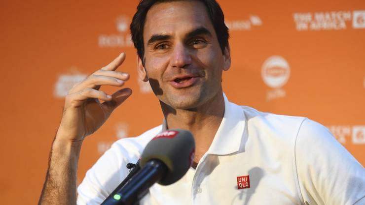 """Roger Federer spielt erstmals einen """"Match for Africa"""" in Afrika"""