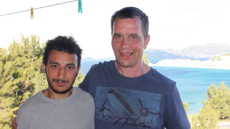 Michael Stäuble (rechts) will Flüchtlingen helfen.