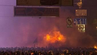Bild der schweren Ausschreitungen in Kiew