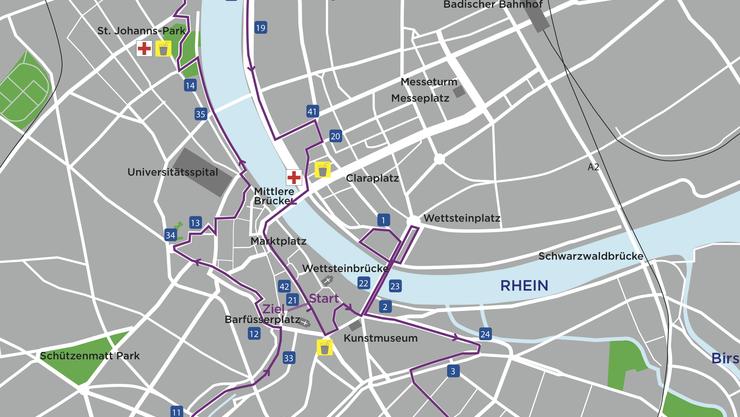 Diese Strecke werden die Läuferinnen und Läufer am 27. September bezwingen.