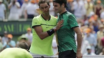 Im Head-to-Head zwischen Rafael Nadal und Roger Federer steht es 23:15 zugunsten des Spaniers. In diesem Jahr spielten die beiden Dauerrivalen auf der ATP Tour noch nicht gegeneinander