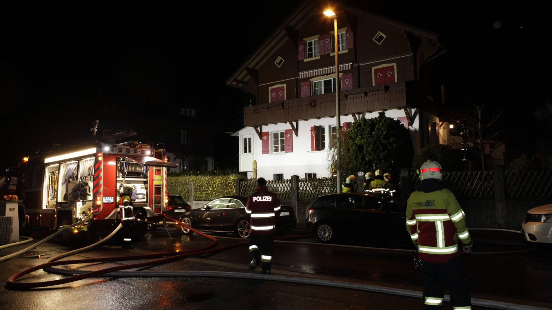 Brand in einem Keller in der Stadt Luzern