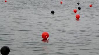 Hunderte Ballone lagen auf dem Bodensee