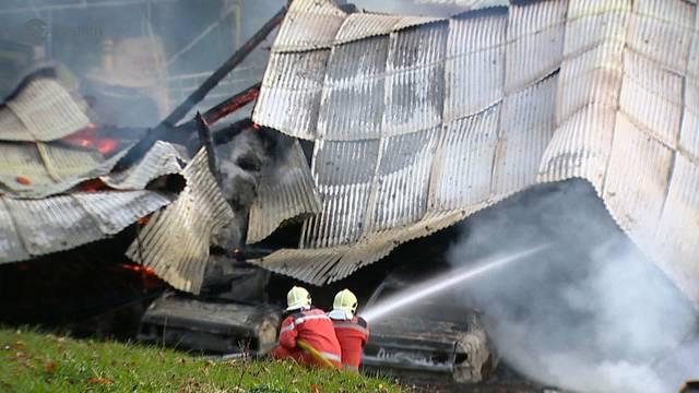 Scheunenbrand: Hunderttausende Franken Schaden