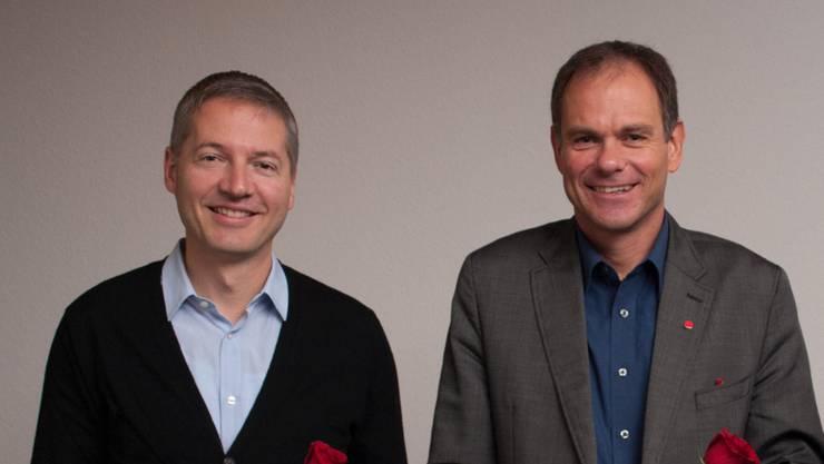 Anwärter der SP: Peter Schafer, links (Stadtpräsidium) und Thomas Marbet (Vizepräsidium)