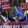 Demonstrieren gegen den Brexit: EU-Freunde schöpfen in Grossbritannien wieder Hoffnung.