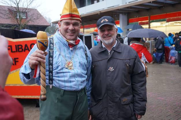 Schirmherr 2015 Stefan Schmid mit seinem Vater Herbert - der selbst vor 25 Jahren Schirmherr der Fastnacht Urdorf war