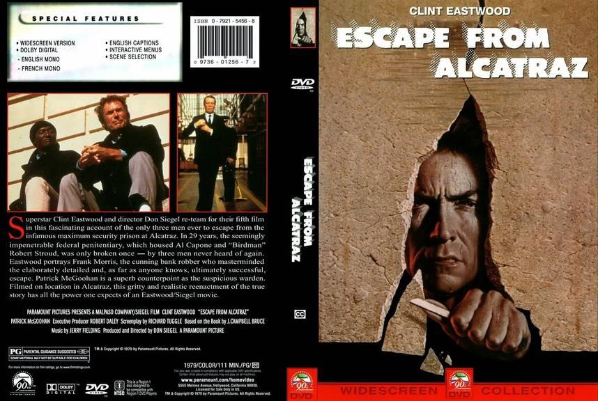 """Das Cover von """"Escape from Alcatraz. (Bild: clinteastwoodarchive.com)"""