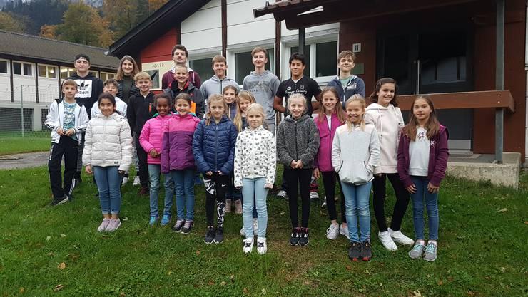 Die Teilnehmer und Leiter (hinten links) des TSV Rohrdorf hatten viel Spass im Lager in Kerns.