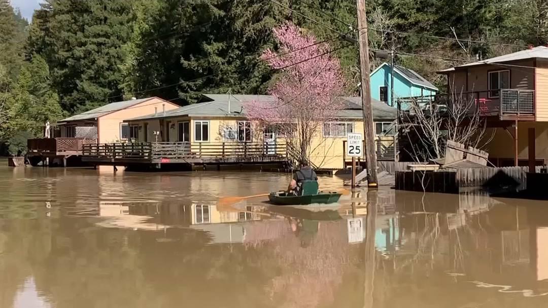 Schwere Überschwemmungen in Kalifornien: Noch immer Städte abgeschnitten
