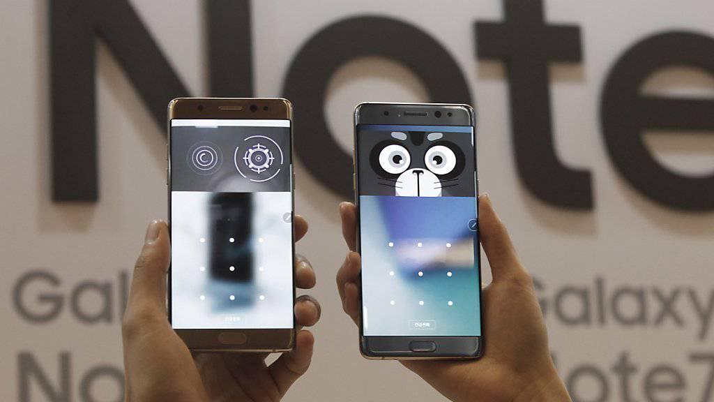 Das neue «Galaxy Note 7» von Samsung bereitet Probleme: Der Verkauf wird gestoppt, bereits verkaufte Geräte werden zurückgerufen.