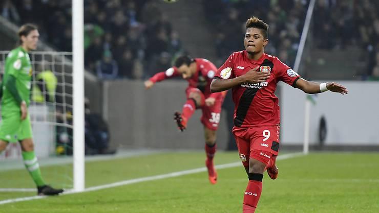 Der Jamaikaner Leon Bailey von Bayer Leverkusen befindet sich derzeit in Topform