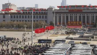 Zum Abschluss seiner Jahrestagung segnete Chinas Volkskongress ein neues Gesetz ab, das auf die Benachteiligung ausländischer Firmen in China eingeht. (Archivbild)