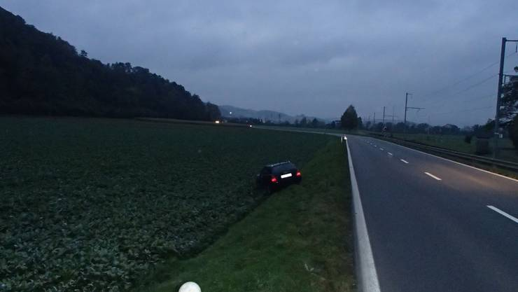 Audifahrer landet im Gemüsefeld.