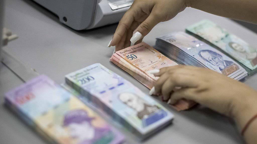 Mega-Inflation: Venezuela muss binnen Jahresfrist schon wieder neue Geldscheine in den Umlauf bringen. (Archivbild)