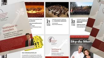Die Werbung für die Internationale Musikwoche Grenchen läuft auf allen Kanälen auf Hochtouren – im Internet, mit Flyern und Einsteckbroschüren.