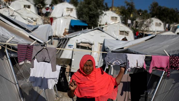 Das Moria-Flüchtlingslager auf Lesbos ist für 3000 Menschen ausgelegt, beherbergt aber rund 10 000.