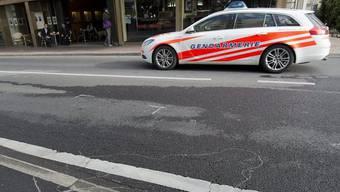 An dieser Stelle im Zentrum von Montreux ereignete sich der tödliche Schusswechsel