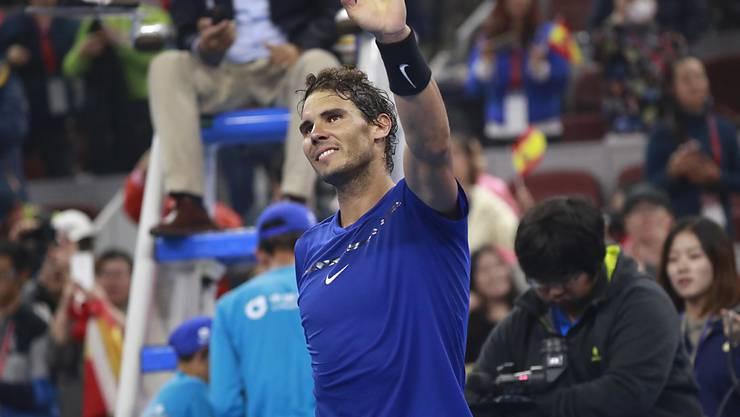 Rafael Nadal lässt im Final in Peking nichts anbrennen