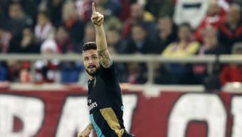 Olivier Giroud schoss Arsenal praktisch im Alleingang in die Achtelfinals