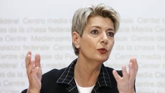 Wehrt sich gegen ein Ja zur Begrenzungsinitiative: Bundesrätin Karin Keller-Sutter.