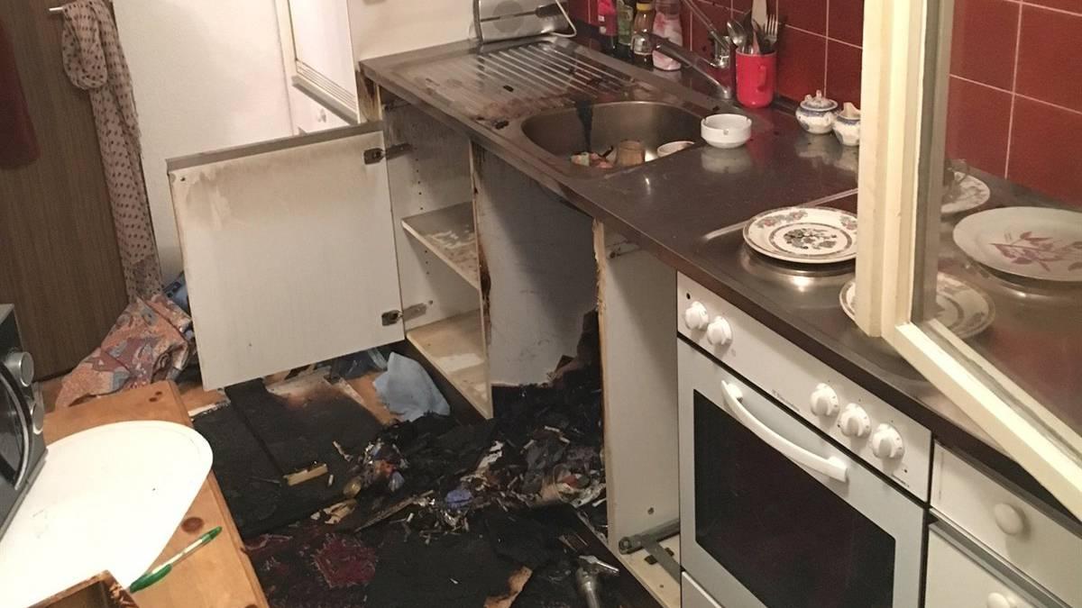 In der Küche einer 74-Jährigen brannte es