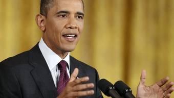 Präsident Barack Obama bei seiner Erklärung im Weissen Haus