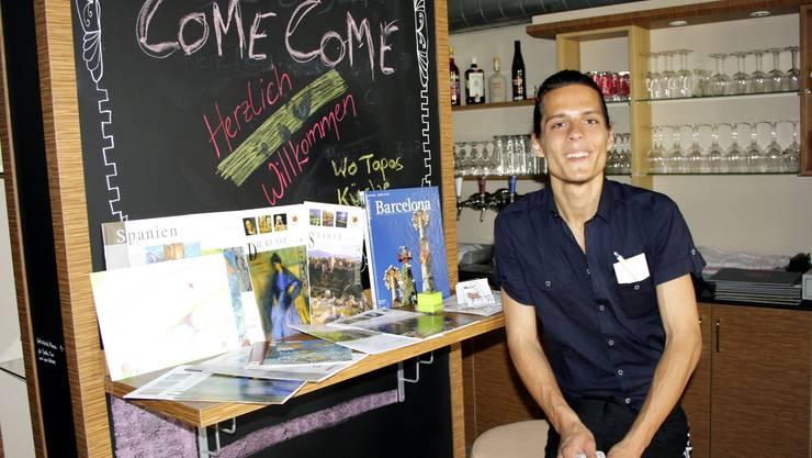 Chris Gilb hat im Oberen Winkel das Restaurant Tapas Come Come neu eröffnet.