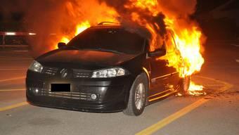 Auto brennt in Zuchwil aus