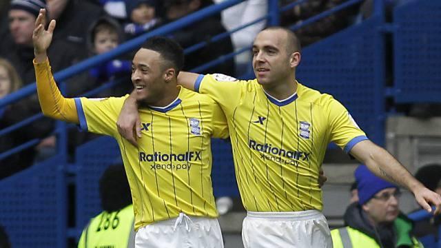 David Murphy (rechts) erzielte für die Gäste aus Birmingham das 1:0